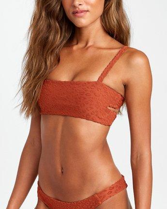 3 Wild Bikini Top Brown R408657 RVCA