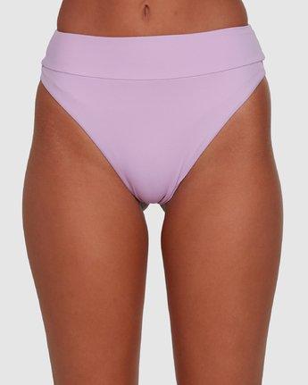 4 Solid High Rise Bikini Bottom Purple R408822 RVCA