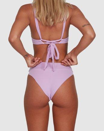 5 Solid High Rise Bikini Bottom Purple R408822 RVCA