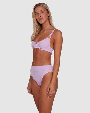 2 Solid High Rise Bikini Bottom Purple R408822 RVCA