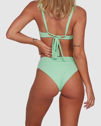 5 Solid High Rise Bikini Bottom Green R408822 RVCA