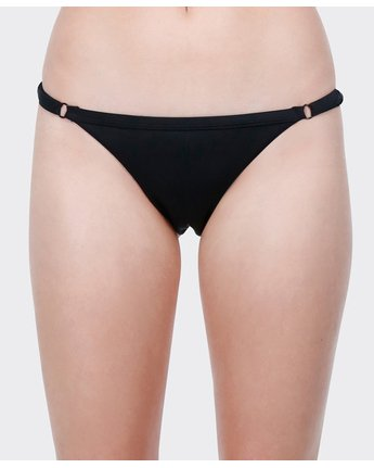 3 Solid Medium Bikini Pant Black R471802 RVCA