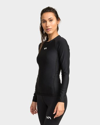 1 Va Compression Long Sleeve Shirt Black R481091 RVCA
