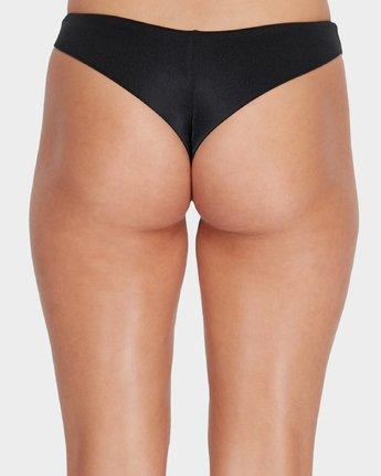 4 Solid Shimmer Cheeky Bikini Pant Black R481804 RVCA