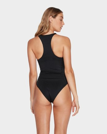 2 Solid Shimmer One Piece Black R482805 RVCA