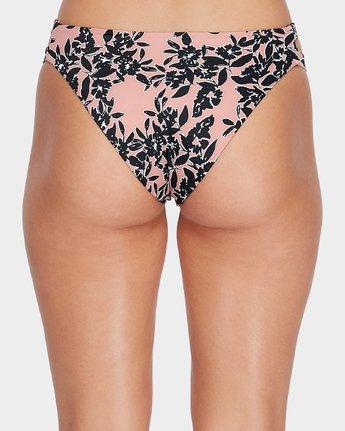 4 Isla Floral Cheeky Bikini Pant Beige R482827 RVCA