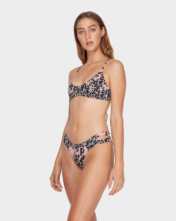 1 Isla Floral Cheeky Bikini Pant Beige R482827 RVCA