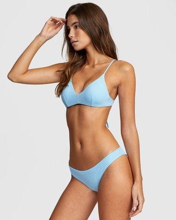2 Solid Cheeky Bikini Bottom Blue R484826 RVCA
