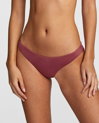 4 Solid Cheeky Bikini Bottom Purple R484826 RVCA