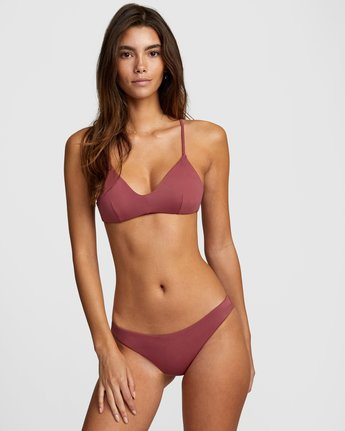 1 Solid Cheeky Bikini Bottom Purple R484826 RVCA