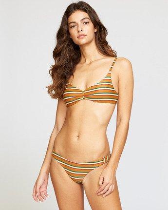 1 Retro Row Medium Bikini Bottom Brown R491821 RVCA