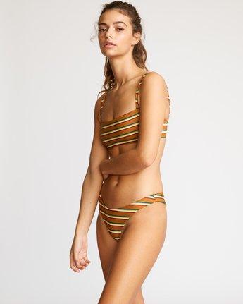 2 Retro Row French Bikini Bottom Brown R491822 RVCA