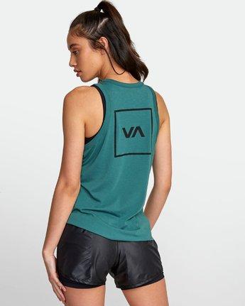1 VA Muscle tee Green R492873 RVCA
