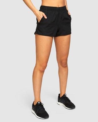 3 Womens Yogger Stretch Shorts Black R493313 RVCA