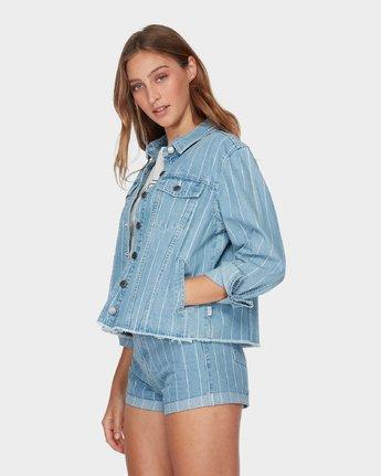 1 Pause It Denim Jacket Blue R493431 RVCA