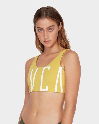 3 Solid Crop Bikini Top Yellow R493801 RVCA