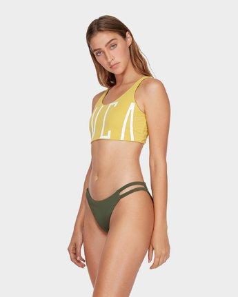 1 Solid Crop Bikini Top Yellow R493801 RVCA