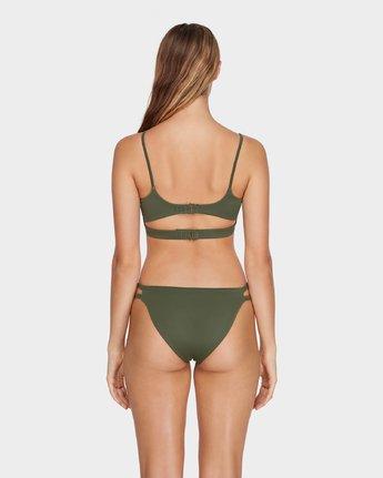 2 Solid Laced Bikini Top Green R493803 RVCA