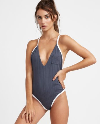 1 Linear One Piece Grey R493811 RVCA