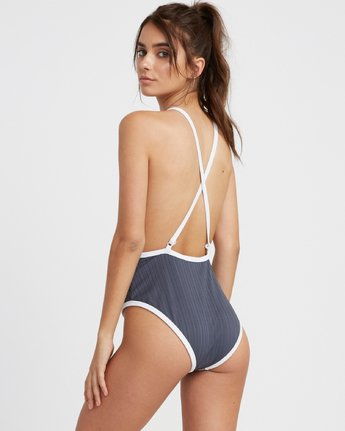 2 Linear One Piece Grey R493811 RVCA