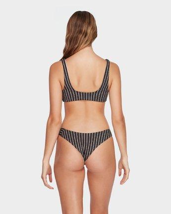 2 Amalfi Tie Front Bikini Top Black R493876 RVCA