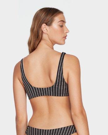 4 Amalfi Tie Front Bikini Top Black R493876 RVCA