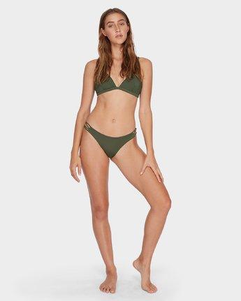 5 Solid Medium Loop Side Bikini Pant Green R493894 RVCA