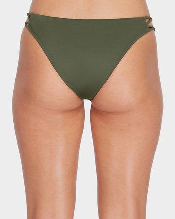 4 Solid Medium Loop Side Bikini Pant Green R493894 RVCA