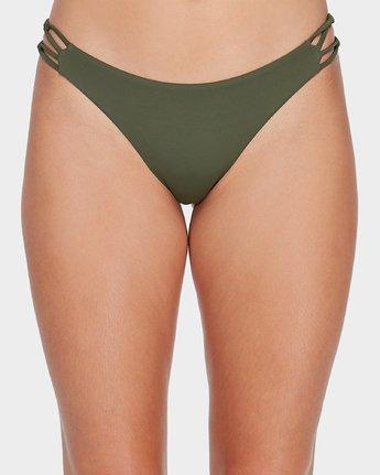 3 Solid Medium Loop Side Bikini Pant Green R493894 RVCA