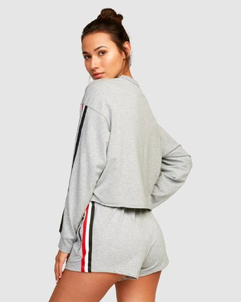 2 Ringside Sweatshirt Grey R494151 RVCA