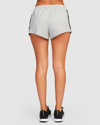 3 Ringside Sweat Short Grey R494311 RVCA