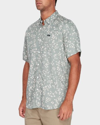 1 Yth RVCA Rosa Short Sleeve Shirt Green R582181 RVCA