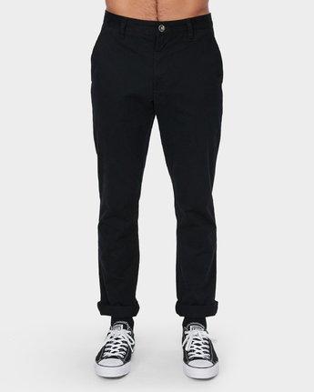 1 Weekday Stretch Pant Black R593271 RVCA