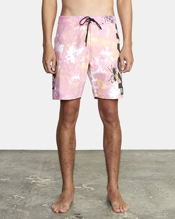 "Bugged Out Trunk 18"" - Tie-Dye Board Shorts for Men  S1BSRARVP0"