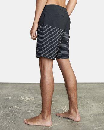 "2 Curren Trunk 18"" - Striped Board Shorts for Men Black S1BSRCRVP0 RVCA"