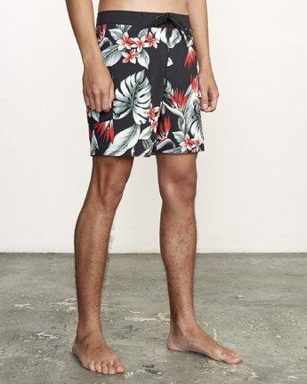 "6 Splender Trunk 17"" - Printed Board Shorts for Men Black S1BSRDRVP0 RVCA"