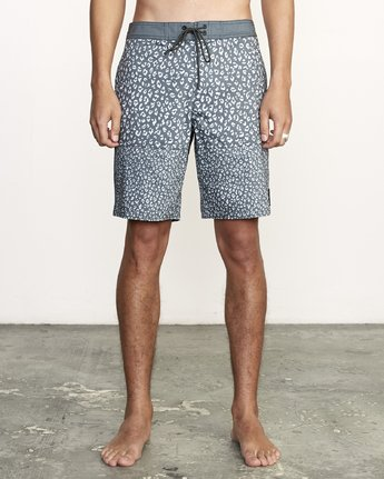 "1 Arroyo Trunk 19"" - Printed Board Shorts for Men Black S1BSRGRVP0 RVCA"