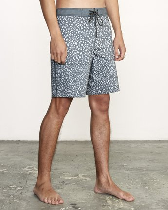 "6 Arroyo Trunk 19"" - Printed Board Shorts for Men Black S1BSRGRVP0 RVCA"