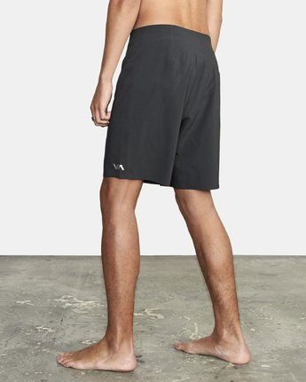 "3 Commander Trunk 18"" - Black Board Shorts for Men Black S1BSRLRVP0 RVCA"