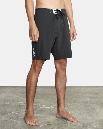 "6 Commander Trunk 18"" - Black Board Shorts for Men Black S1BSRLRVP0 RVCA"