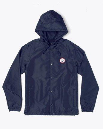 0 VA Hood Coach  - Hooded Coaches Jacket for Men Blue S1JKRBRVP0 RVCA