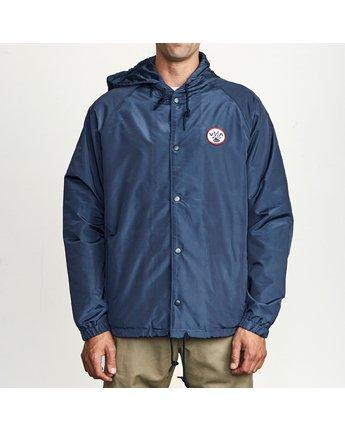 1 VA Hood Coach  - Hooded Coaches Jacket for Men Blue S1JKRBRVP0 RVCA