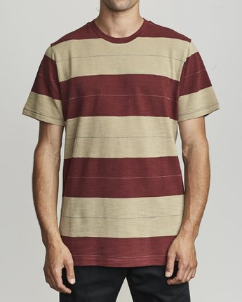1 Rumble - Striped T-Shirt for Men  S1KTRBRVP0 RVCA