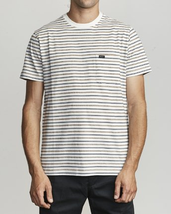 1 Runaway - Striped T-Shirt for Men White S1KTRDRVP0 RVCA