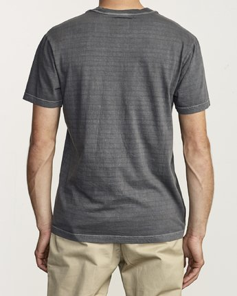 2 Ptc Stripe - Striped T-Shirt for Men Black S1KTRERVP0 RVCA