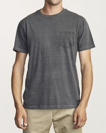 1 Ptc Stripe - Striped T-Shirt for Men Black S1KTRERVP0 RVCA