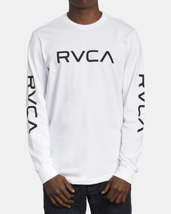 1 Big RVCA - Long Sleeve T-Shirt for Men White S1LSRARVP0 RVCA
