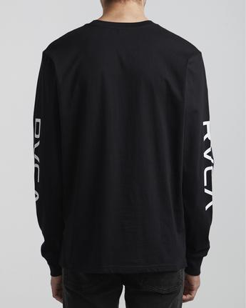 6 Big RVCA - Long Sleeve T-Shirt for Men Black S1LSRARVP0 RVCA