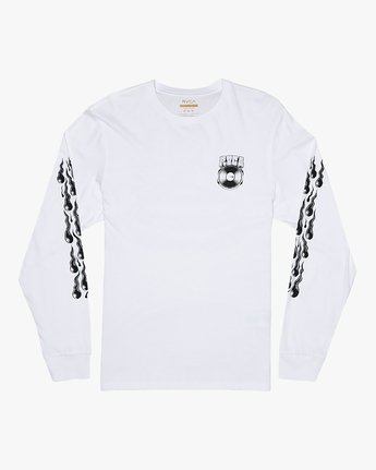 1 Martin Ander Snake - Long Sleeve T-Shirt for Men White S1LSRDRVP0 RVCA