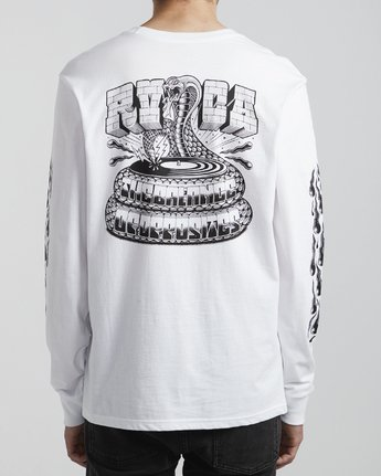6 Martin Ander Snake - Long Sleeve T-Shirt for Men White S1LSRDRVP0 RVCA